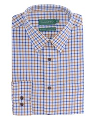 Double Two Men's Patterned Formal Shirt Yellow