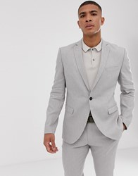 Selected Homme Slim Suit Jacket In Sand Linen Stretch Beige