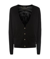 Juicy Couture Embellished Panel Cardigan Black