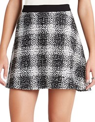 Bcbgeneration Plaid Tweed A Line Skirt