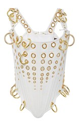 The Blonds Gold Ring Corset Top White