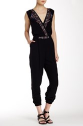 Twelfth St. By Cynthia Vincent Crossfront Jumpsuit Black