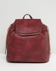 Liquorish Backpack With Eyelets Brown
