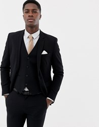 Only And Sons Skinny Suit Jacket Black