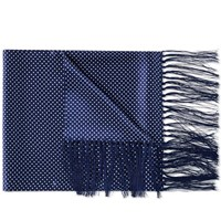 Fred Perry Polka Dot Silk Scarf Blue