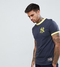 Majestic Yankees Ringer T Shirt In Navy