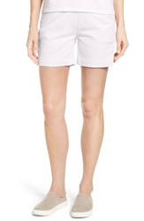 Jag Jeans Women's Ainsley Pull On Stretch Twill Shorts White