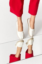 Urban Outfitters Uo Classic Espadrille Flat Cream