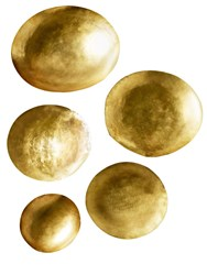 Tom Dixon Large Form Set Of 5 Brass Bowls