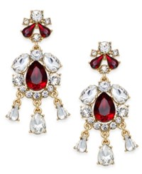 Charter Club Crystal Chandelier Earrings Only At Macy's Red