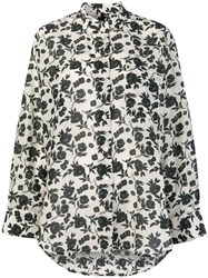 Sara Lanzi Floral Pattern Shirt Nude And Neutrals