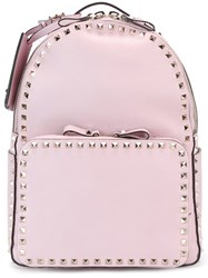 Valentino 'Rockstud' Backpack Pink And Purple