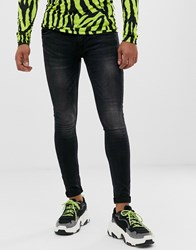 Cheap Monday Him Spray Super Skinny Jeans In Pistol Washed Black