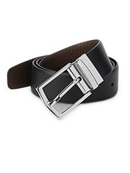 A. Testoni Karibu Reversible Leather Belt Black Brown