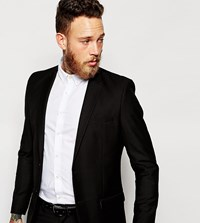 Only And Sons Suit Jacket In Slim Fit Black