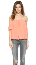 Tbags Los Angeles Off The Shoulder Blouse Peach