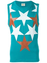 Walter Van Beirendonck Vintage Star Print Sleeveless Top Green
