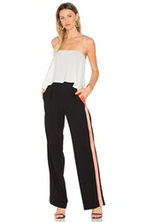 Diane Von Furstenberg Amare Jumpsuit Black And White