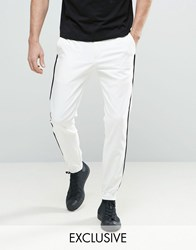 Noose And Monkey Skinny Fit Tuxedo Jogger White