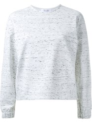 Le Ciel Bleu 'Melange Over' Sweater White