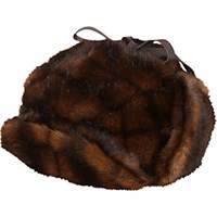 Albertus Swanepoel Women's Faux Fur Iorek Trapper Hat Brown