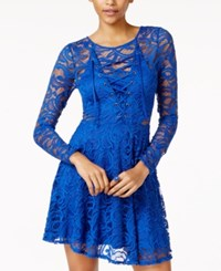 Material Girl Juniors' Lace Fit And Flare Dress Only At Macy's Surf The Web