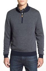 Men's Brooks Brothers Merino Wool Bird's Eye Half Zip Sweater