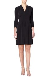 Catherine Malandrino Women's 'Tinka' Jersey V Neck Fit And Flare Dress Blackbird