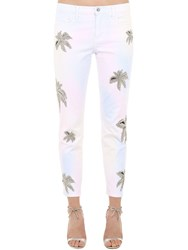 Philipp Plein Embellished Cotton Blend Denim Jeans Multicolor