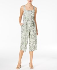 Guess Nicci Zip Front Gaucho Jumpsuit Snake In The Garden Scuffy