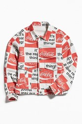Bdg Coca Cola Denim Trucker Jacket White
