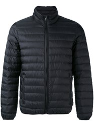 Armani Jeans Padded Jacket Men Feather Down Polyamide 50 Black