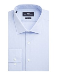 Paul Costelloe Men's Danvers Dobby Slim Fit Shirt Blue