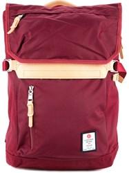 As2ov Large Contrast Backpack Men Nylon One Size Red
