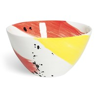 Bliss Home Fabbro Swish Salad Bowl Red And Yellow