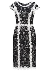 Phase Eight Hanan Summer Dress Black Ivory White