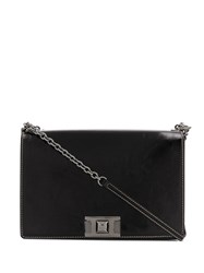 Furla Foldover Top Shoulder Bag Black