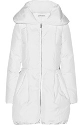 Alice Olivia Blakely Shell Down Hooded Coat White