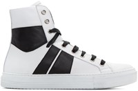 Amiri White And Black Sunset High Top Sneakers
