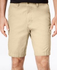 Geoffrey Beene Men's Big And Tall Washed Twill Cargo Shorts Khaki