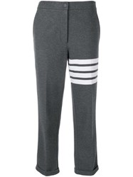 Thom Browne 4 Bar Double Face Trousers Grey