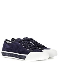 Tod's Lace Up Sneaker With Raffia Sole Blue