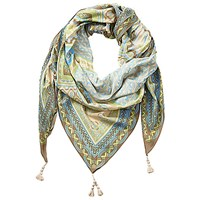 Betty Barclay Long Multi Print Scarf Taupe Cream