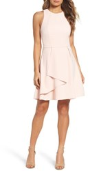 Adelyn Rae Athena Fit And Flare Dress Pink Sand