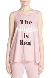 Junk Food The Snuggle Is Real Front Graphic Tank Pink