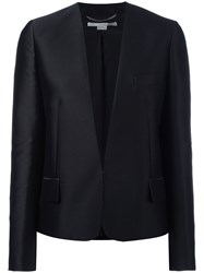 Stella Mccartney Embroidered Bird Collarless Blazer Black
