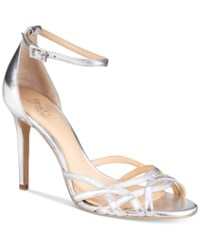 Jewel By Badgley Mischka Haskell Strappy Sandals Women's Shoes Silver