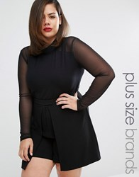 Alice And You High Neck Sheer Body Black