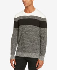 Kenneth Cole Reaction Men's Marled Colorblocked Sweater Charcoal Heather