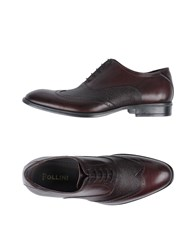 Pollini Lace Up Shoes Maroon